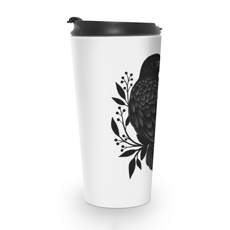 Botanical Blackbird Accessories Travel Mug by Thistle Moon Artist Shop
