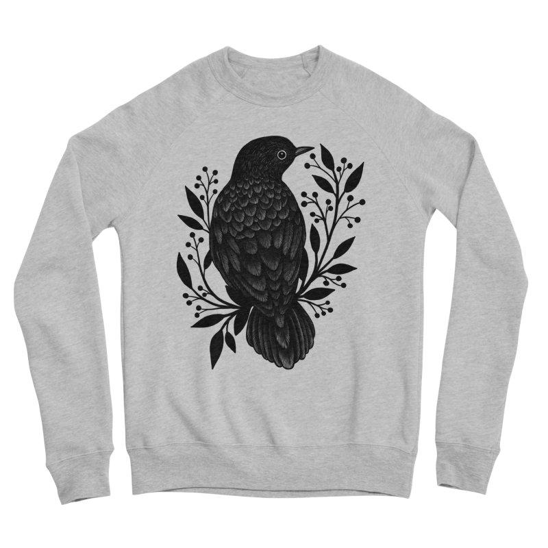 Botanical Blackbird Women's Sponge Fleece Sweatshirt by Thistle Moon Artist Shop