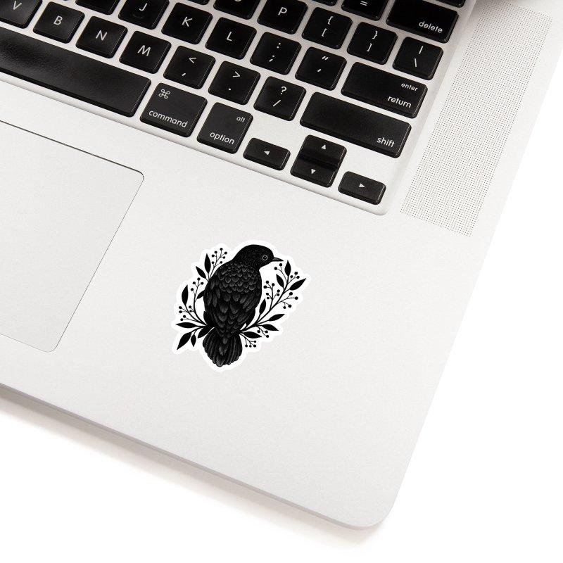 Botanical Blackbird Accessories Sticker by Thistle Moon Artist Shop