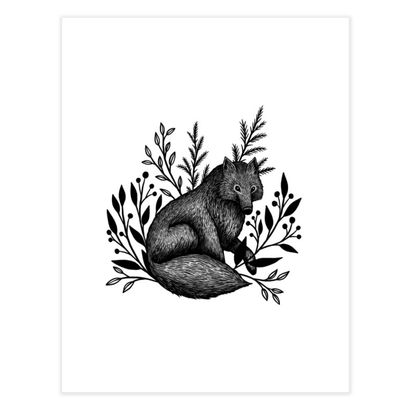 Woodland Wolf Home Fine Art Print by Thistle Moon Artist Shop