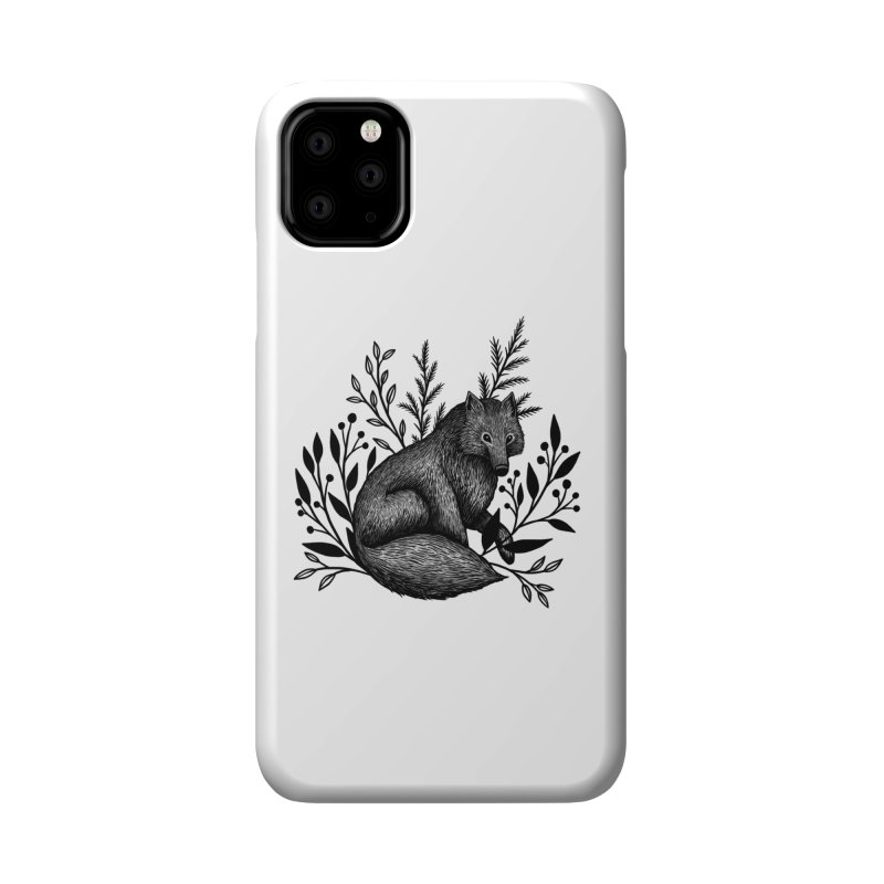 Woodland Wolf Accessories Phone Case by Thistle Moon Artist Shop