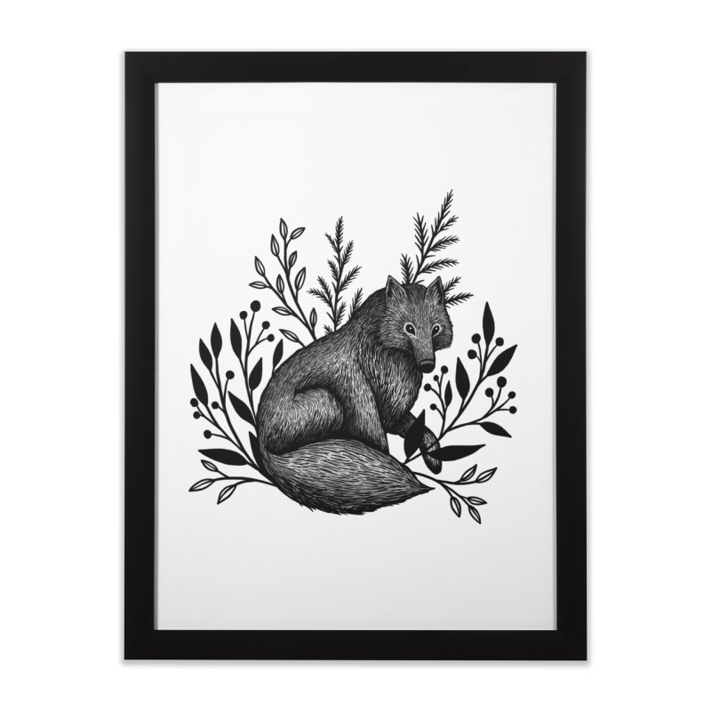 Woodland Wolf Home Framed Fine Art Print by Thistle Moon Artist Shop