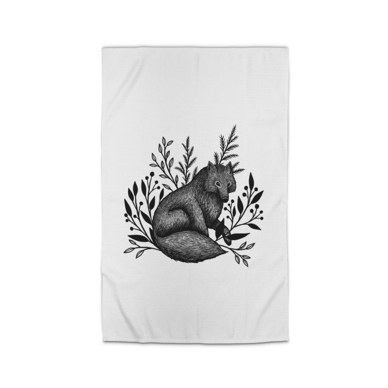 Woodland Wolf Home Rug by Thistle Moon Artist Shop