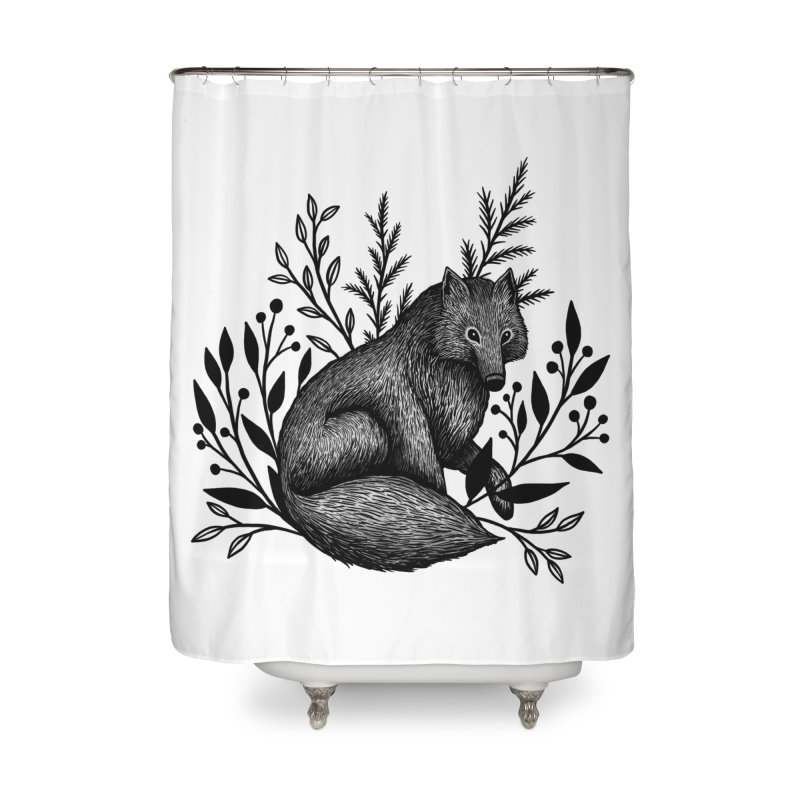 Woodland Wolf Home Shower Curtain by Thistle Moon Artist Shop