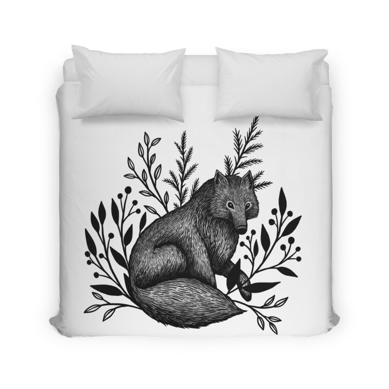 Woodland Wolf Home Duvet by Thistle Moon Artist Shop