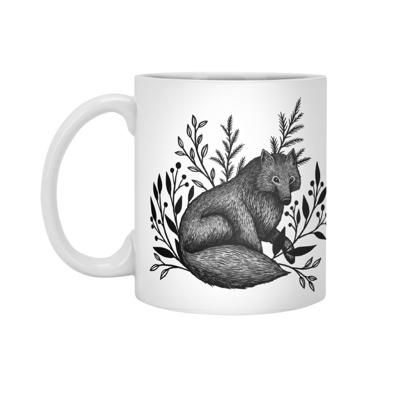 Woodland Wolf Accessories Standard Mug by Thistle Moon Artist Shop