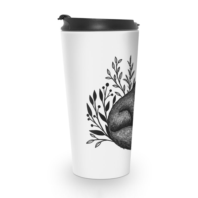 Woodland Wolf Accessories Travel Mug by Thistle Moon Artist Shop