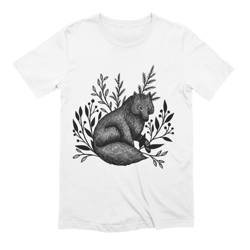 Woodland Wolf Men's Extra Soft T-Shirt by Thistle Moon Artist Shop