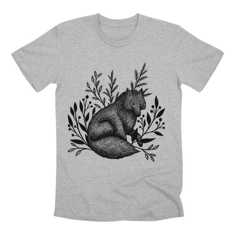 Woodland Wolf Men's Premium T-Shirt by Thistle Moon Artist Shop