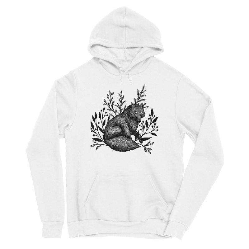 Woodland Wolf Women's Sponge Fleece Pullover Hoody by Thistle Moon Artist Shop