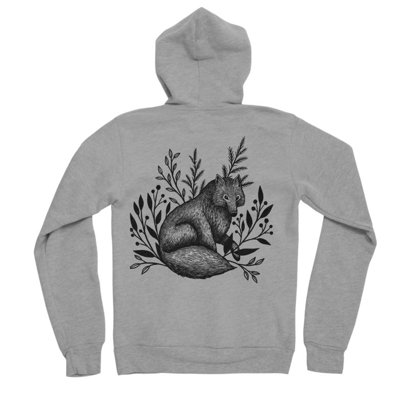 Woodland Wolf Women's Sponge Fleece Zip-Up Hoody by Thistle Moon Artist Shop