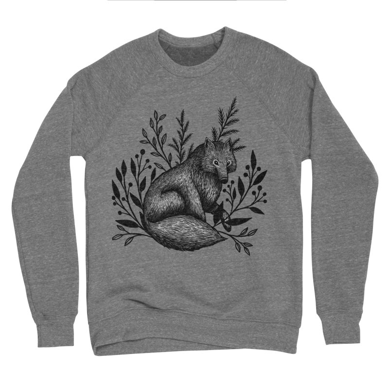 Woodland Wolf Men's Sponge Fleece Sweatshirt by Thistle Moon Artist Shop