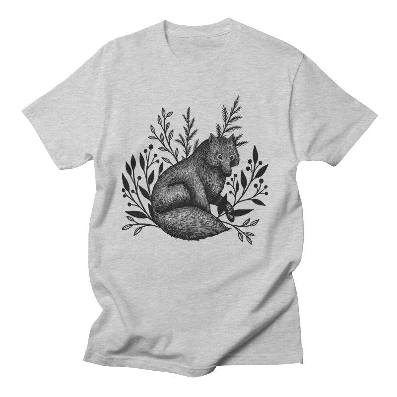 Woodland Wolf Women's Regular Unisex T-Shirt by Thistle Moon Artist Shop