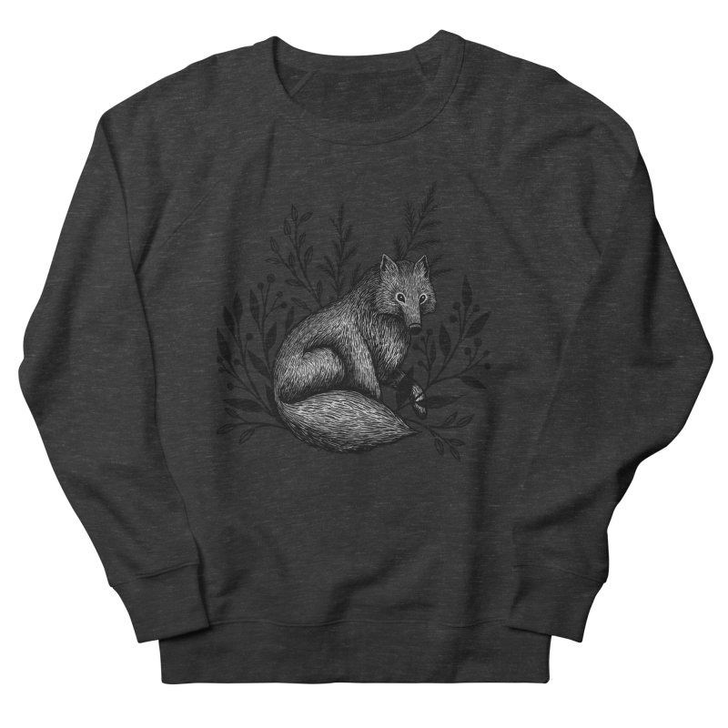 Woodland Wolf Women's French Terry Sweatshirt by Thistle Moon Artist Shop