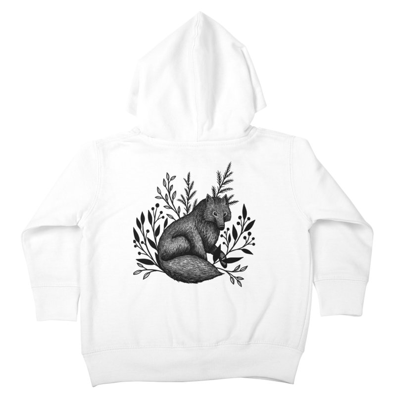 Woodland Wolf Kids Toddler Zip-Up Hoody by Thistle Moon Artist Shop