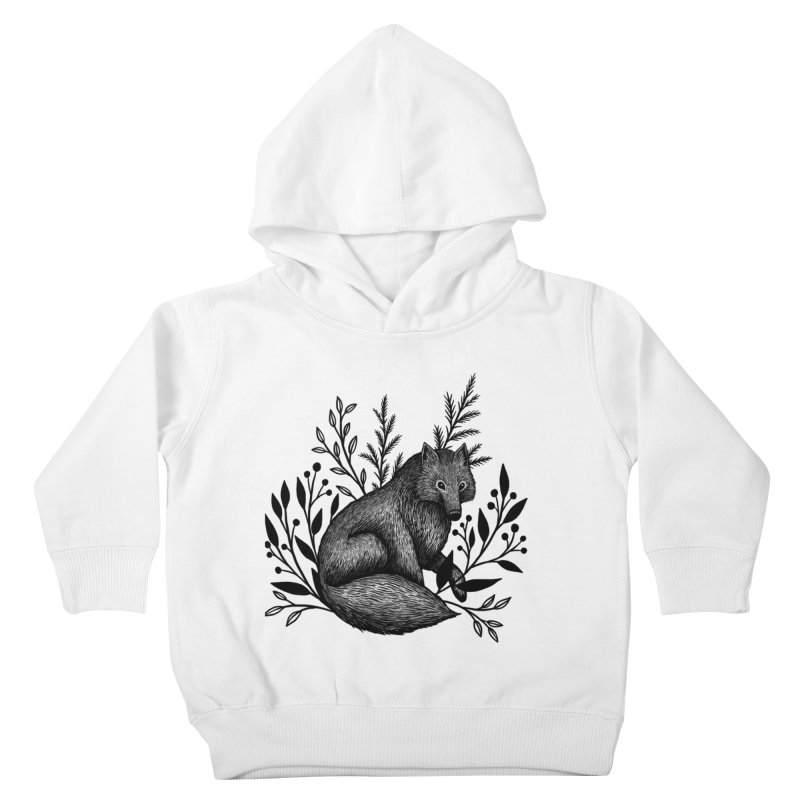 Woodland Wolf Kids Toddler Pullover Hoody by Thistle Moon Artist Shop