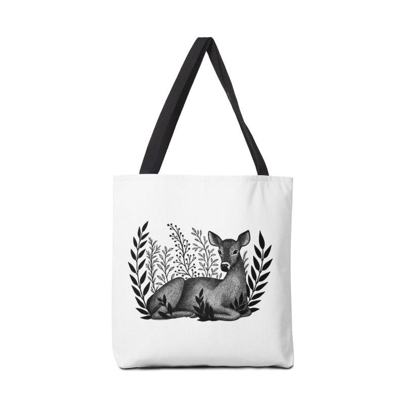 Sleepy Deer Accessories Tote Bag Bag by Thistle Moon Artist Shop