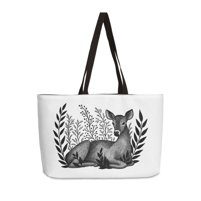 Sleepy Deer Accessories Weekender Bag Bag by Thistle Moon Artist Shop