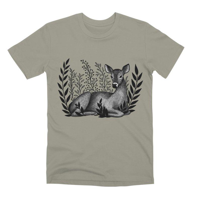 Sleepy Deer Men's Premium T-Shirt by Thistle Moon Artist Shop