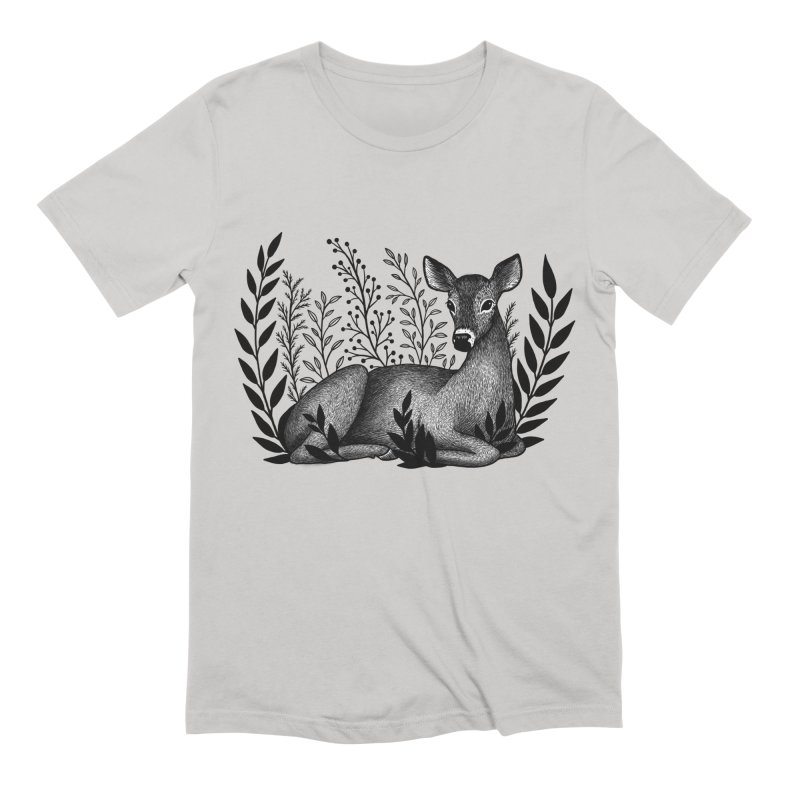 Sleepy Deer Men's Extra Soft T-Shirt by Thistle Moon Artist Shop