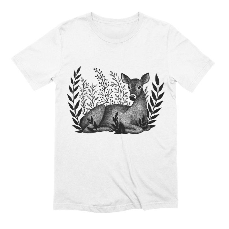 Sleepy Deer Men's Extra Soft T-Shirt by Thistle Moon Artist Shop