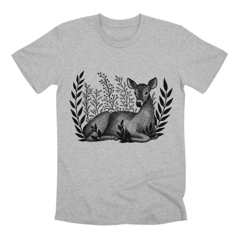 Sleepy Deer Men's Premium T-Shirt by Thistle Moon Artist Shop