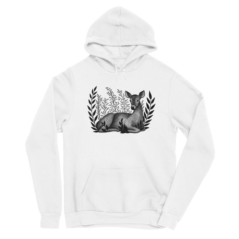 Sleepy Deer Women's Sponge Fleece Pullover Hoody by Thistle Moon Artist Shop