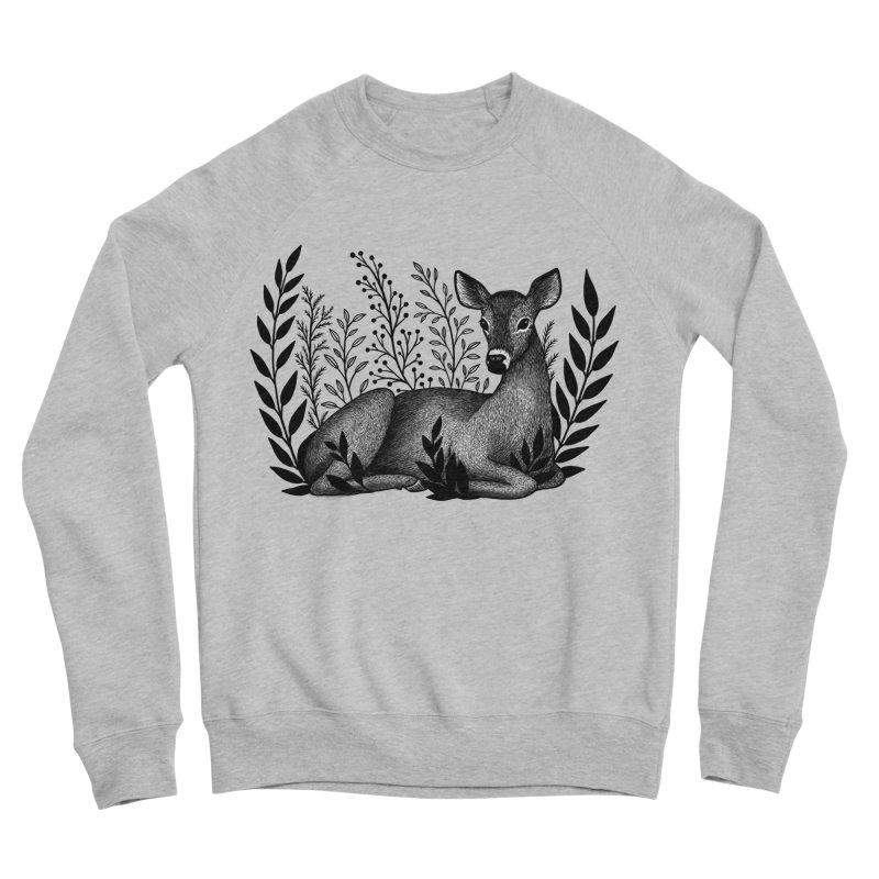 Sleepy Deer Women's Sponge Fleece Sweatshirt by Thistle Moon Artist Shop
