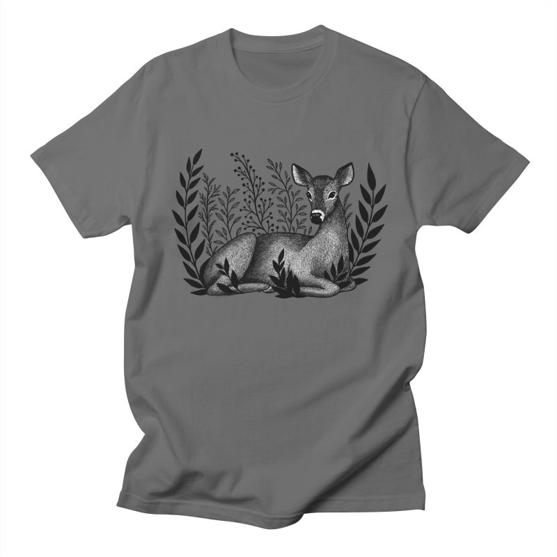 Sleepy Deer Men's T-Shirt by Thistle Moon Artist Shop