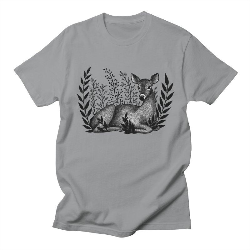 Sleepy Deer Women's Regular Unisex T-Shirt by Thistle Moon Artist Shop