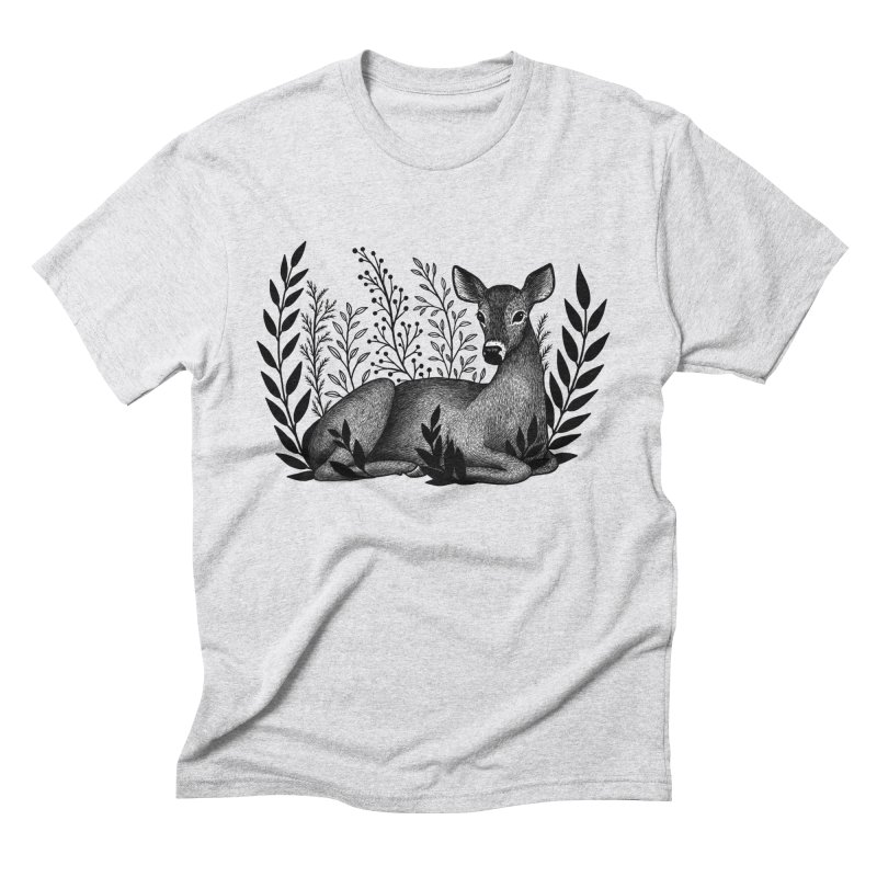 Sleepy Deer Men's Triblend T-Shirt by Thistle Moon Artist Shop