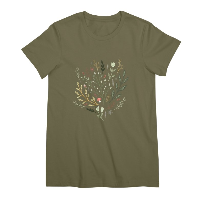 Woodland Walk Women's Premium T-Shirt by Thistle Moon Artist Shop