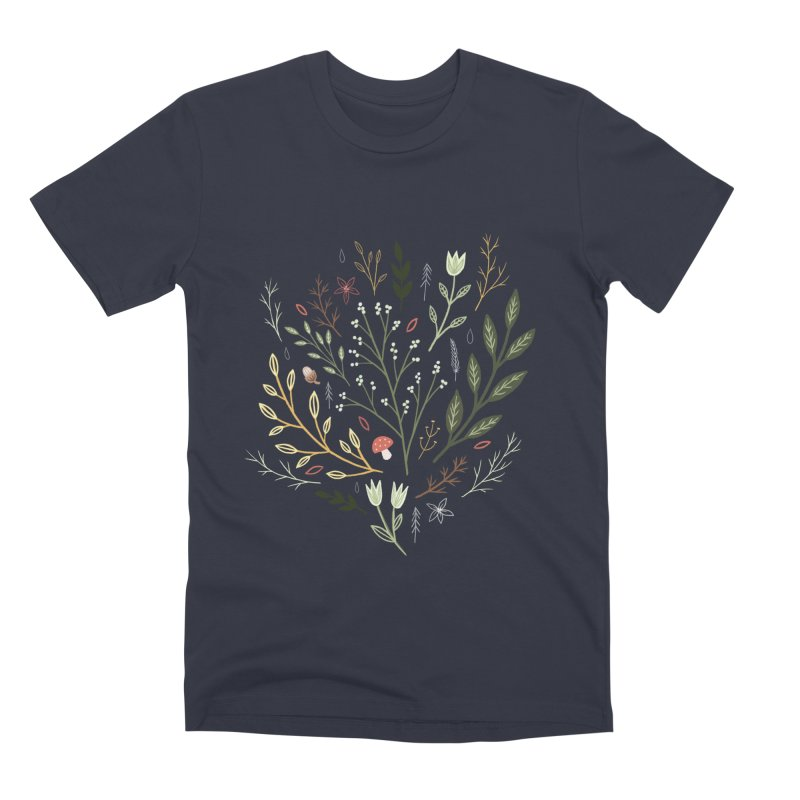 Woodland Walk Men's Premium T-Shirt by Thistle Moon Artist Shop