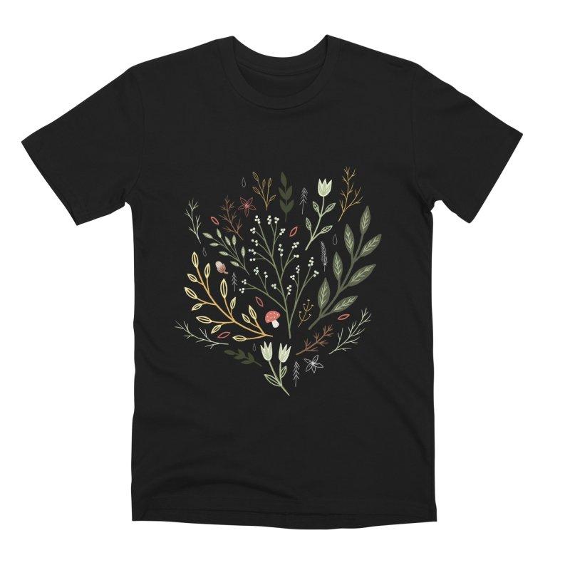 Woodland Walk Men's Premium T-Shirt by Thistle Moon Artist Shop