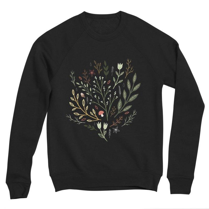 Woodland Walk Men's Sponge Fleece Sweatshirt by Thistle Moon Artist Shop