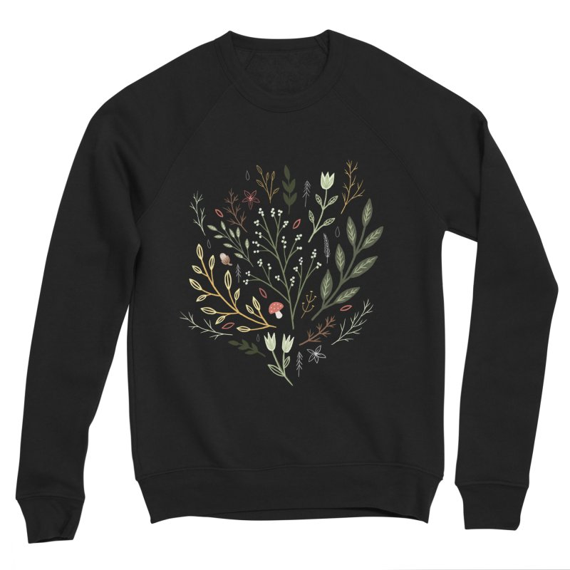 Woodland Walk Women's Sponge Fleece Sweatshirt by Thistle Moon Artist Shop