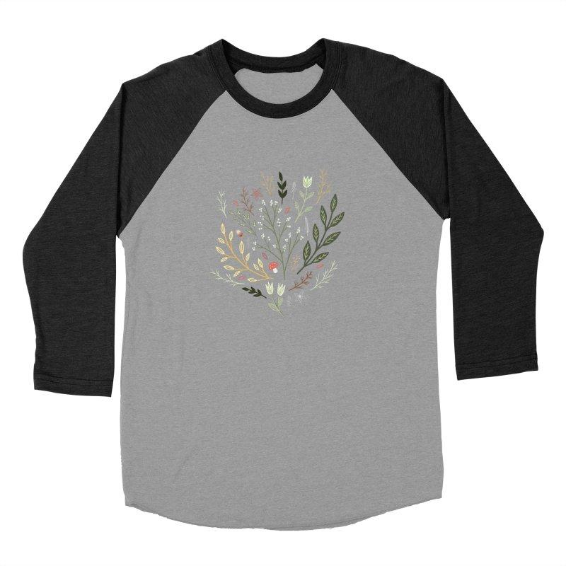 Woodland Walk Women's Baseball Triblend Longsleeve T-Shirt by Thistle Moon Artist Shop