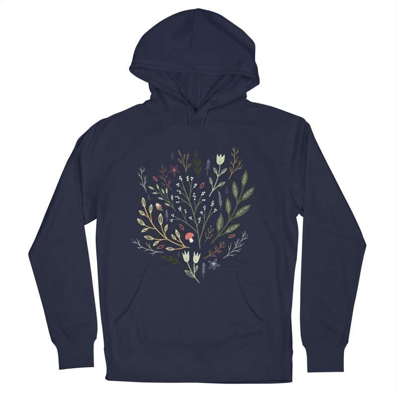 Woodland Walk Women's French Terry Pullover Hoody by Thistle Moon Artist Shop