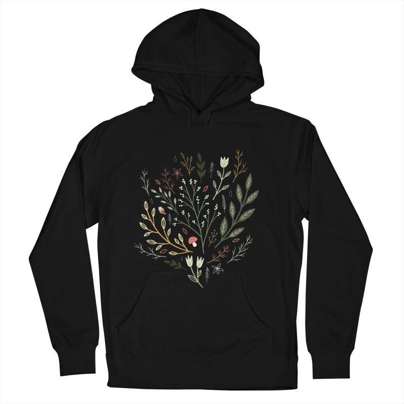 Woodland Walk Men's French Terry Pullover Hoody by Thistle Moon Artist Shop