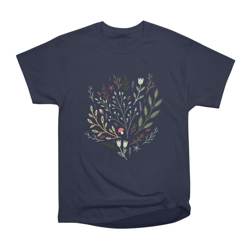 Woodland Walk Men's Heavyweight T-Shirt by Thistle Moon Artist Shop