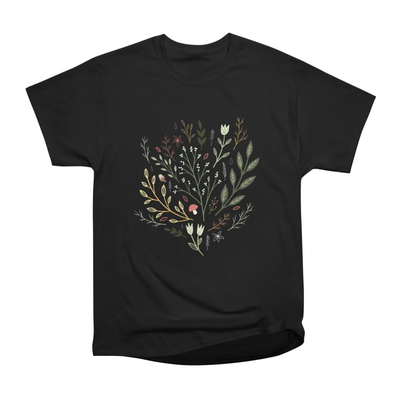 Woodland Walk Men's Heavyweight T-Shirt by Thistle Moon Artist Shop