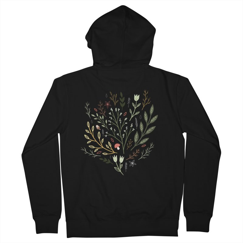 Woodland Walk Men's French Terry Zip-Up Hoody by Thistle Moon Artist Shop