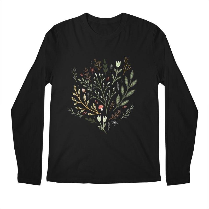 Woodland Walk Men's Regular Longsleeve T-Shirt by Thistle Moon Artist Shop