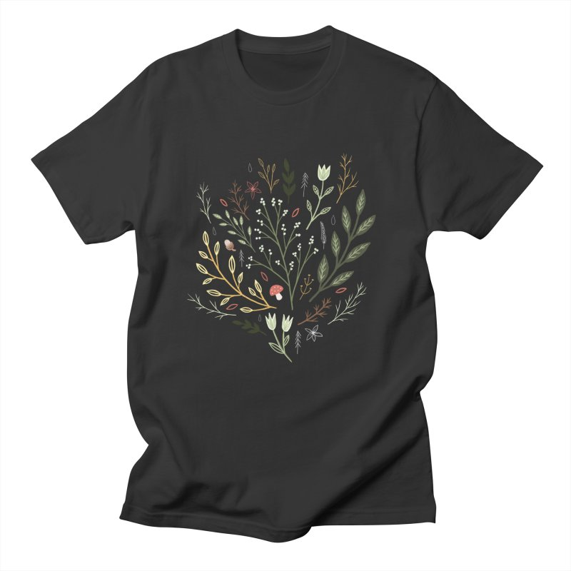 Woodland Walk Men's T-Shirt by Thistle Moon Artist Shop