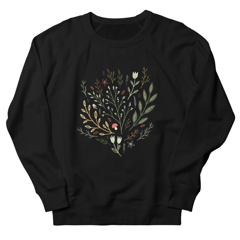 Woodland Walk Men's French Terry Sweatshirt by Thistle Moon Artist Shop
