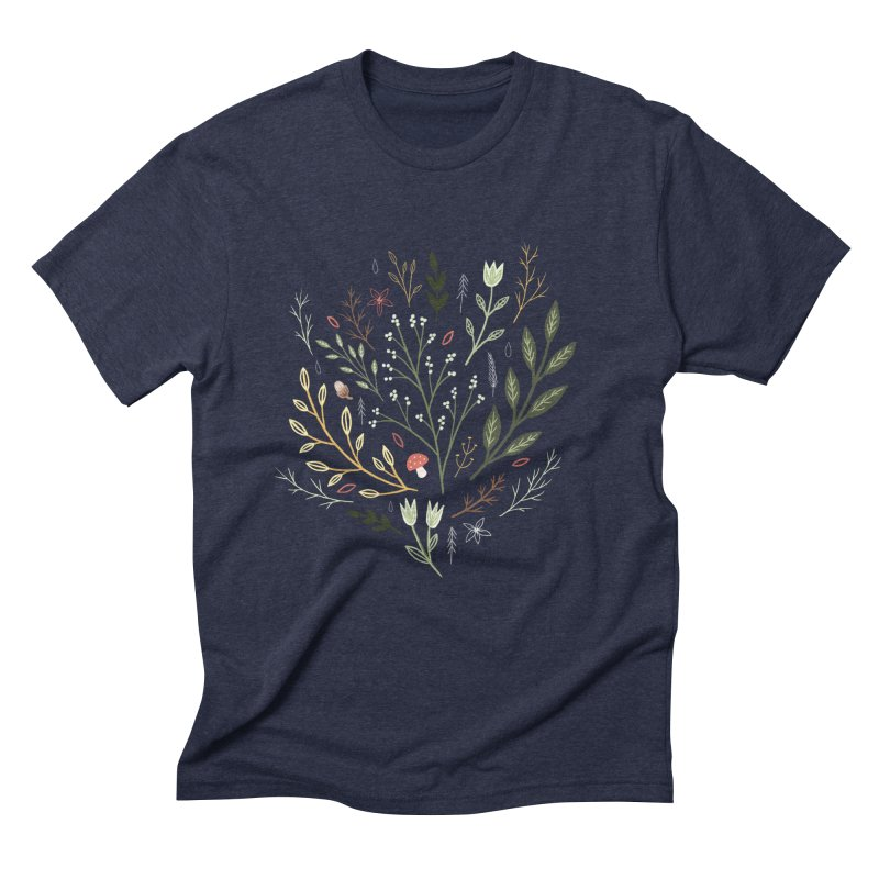 Woodland Walk Men's Triblend T-Shirt by Thistle Moon Artist Shop