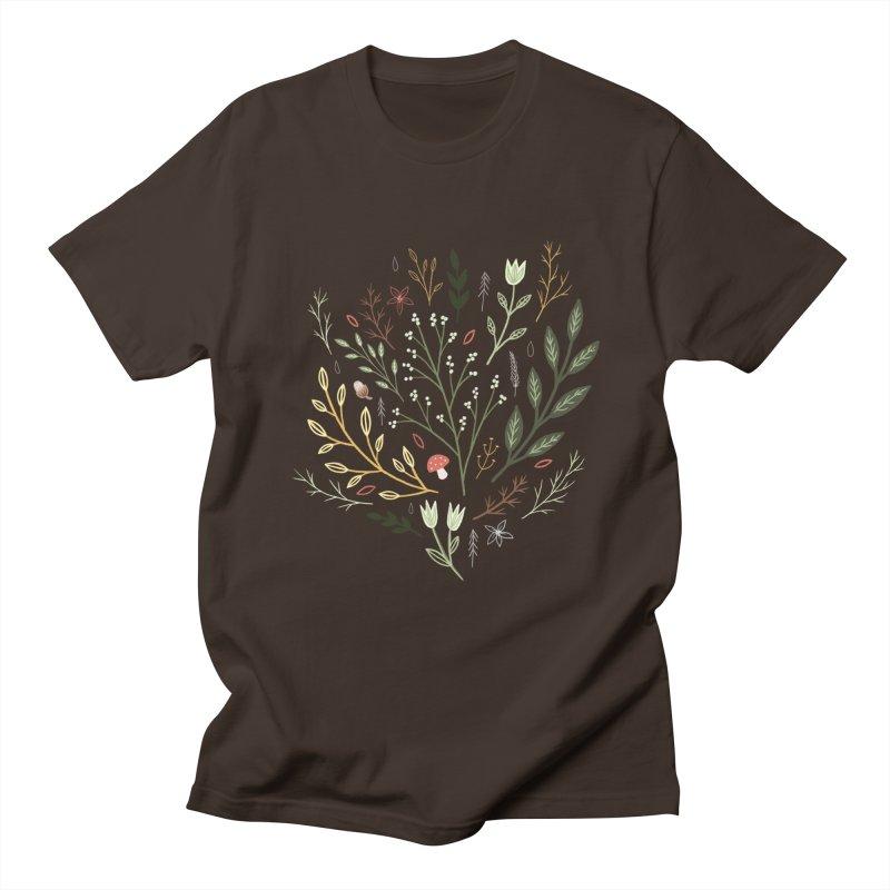 Woodland Walk Men's Regular T-Shirt by Thistle Moon Artist Shop