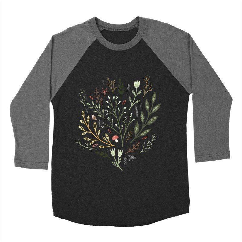 Woodland Walk Men's Baseball Triblend Longsleeve T-Shirt by Thistle Moon Artist Shop