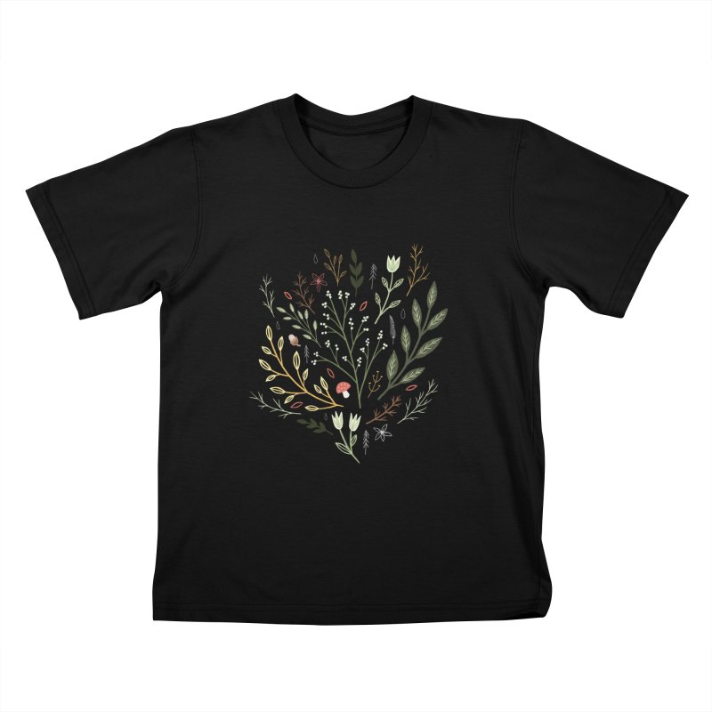 Woodland Walk Kids T-Shirt by Thistle Moon Artist Shop