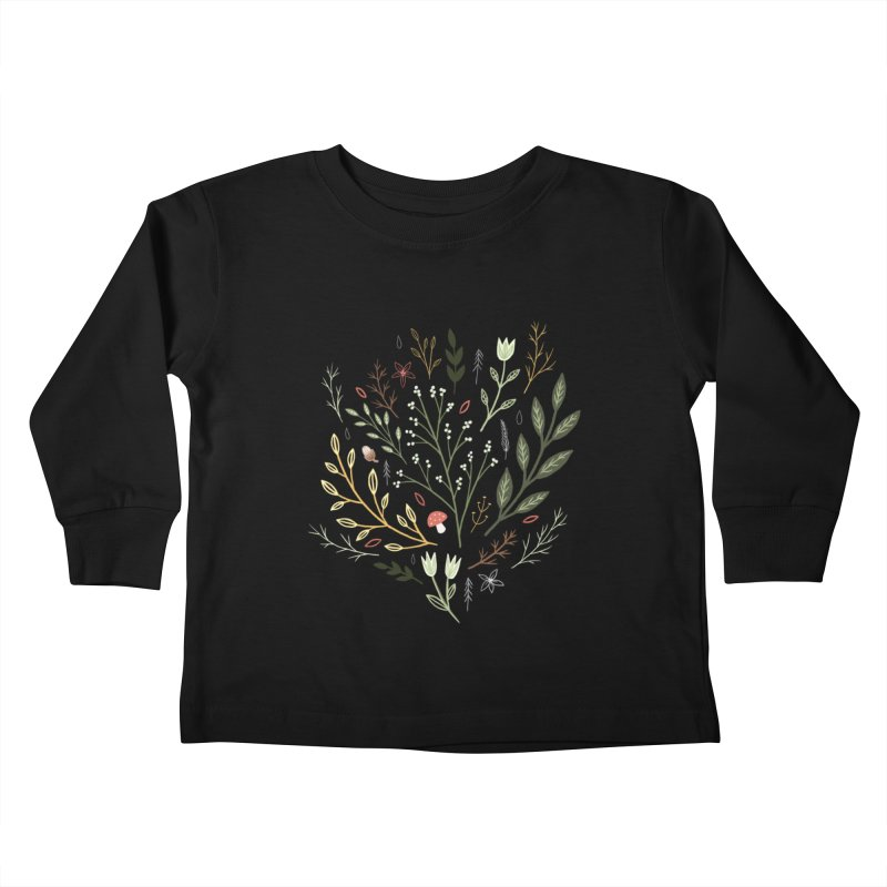Woodland Walk Kids Toddler Longsleeve T-Shirt by Thistle Moon Artist Shop